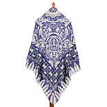 10477-14, павлопосадский платок из вискозы с подрубкой, фото 2