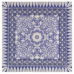 10477-14, павлопосадский платок из вискозы с подрубкой