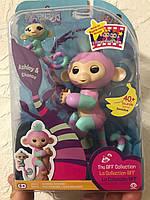 Интерактивная фигурка Фингерлингс Обезьянка Эшли с мини-обезьянкой Чанс WowWee Fingerlings Baby Monkey 3542, фото 1