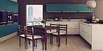 Комплект обеденный Брауни (стол+4 стула) темный шоколад/латте, фото 9