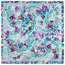 10527-15, павлопосадский платок из вискозы с подрубкой