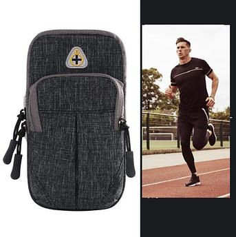 Сумка чехол для телефона на руку для занятий спортом, бега, в спортзал. Спортивная сумка на руку