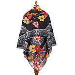10590-18, павлопосадский платок из вискозы с подрубкой, фото 3