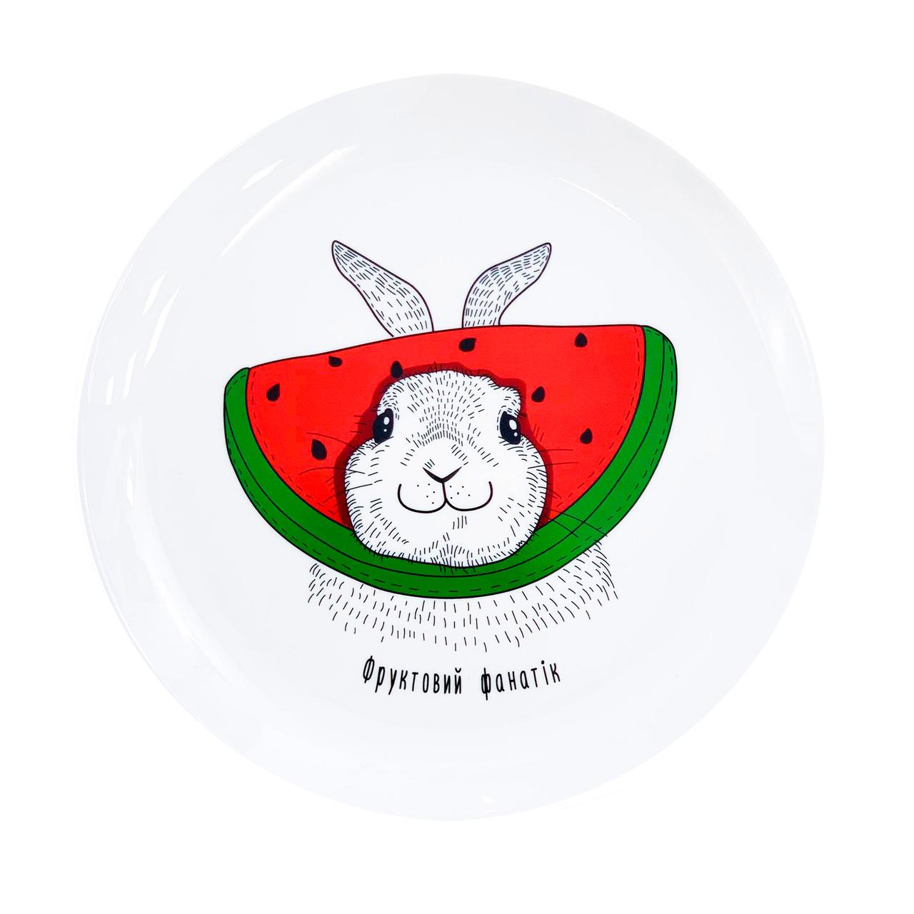 "Тарелка ""Кролик"" зеленый"