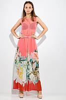 Платье женское AG-0010836 Коралловый,розы