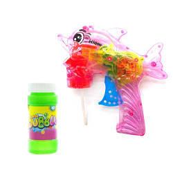 """Пистолет с подсветкой, пускающий пузыри """"Дельфин"""" (розовый)  sco"""