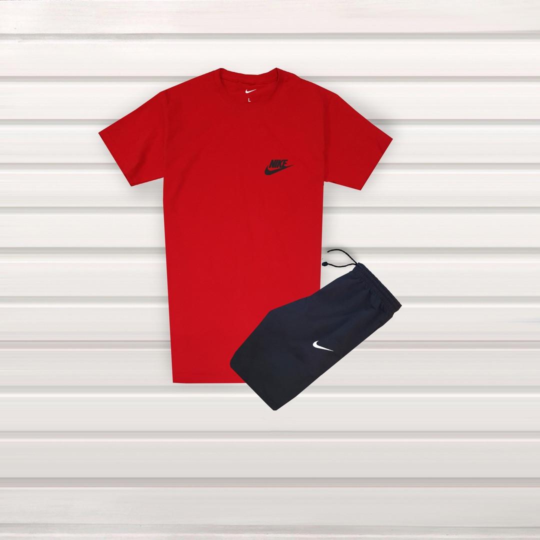 02ec4d60 Летний молодежный спортивный костюм Nike футболка и шорты красный с черным  (реплика), цена 550 грн., купить в Днепре — Prom.ua (ID#983562269)
