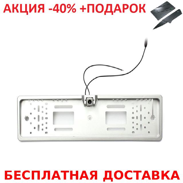 Универсальная рамка для номера с камерой заднего хода EU Car Plate Camera 16 LED