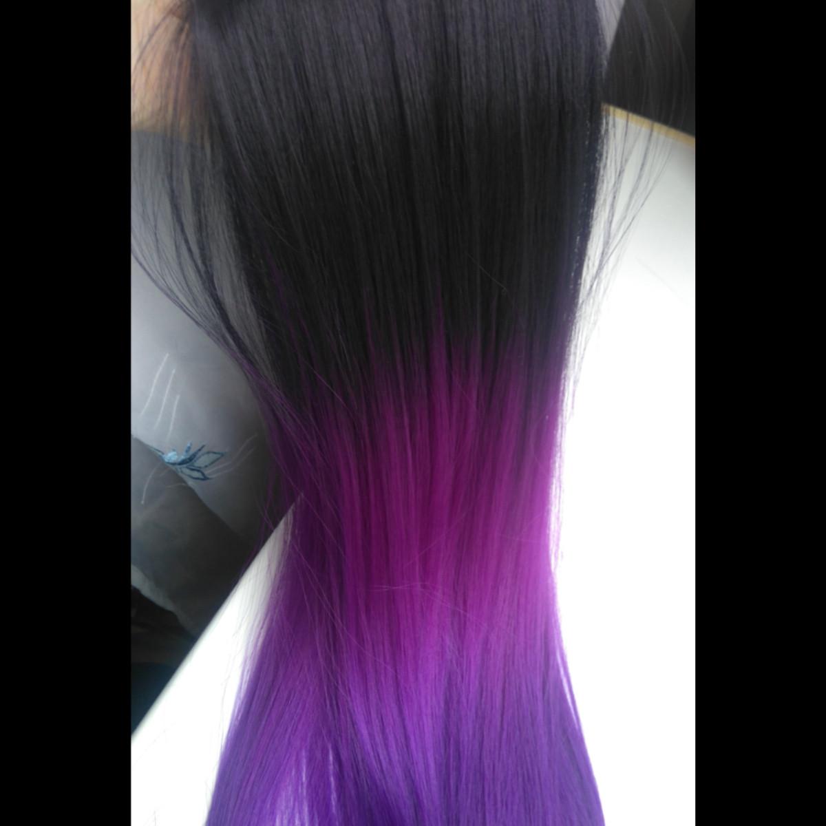 Омбре с фиолетовым