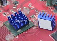 Радиатор для памяти и светодиодов 15x15x8 мм алюминиевый с клеевым слоем