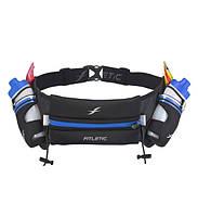 Беговая влагонепроницаемая сумка на пояс Fitletic Hydra Running Belt (черный\синий)