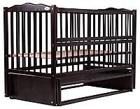622001 Кровать Babyroom Веселка маятник, откидной бок DVMO-2  бук венге