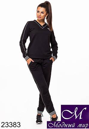 Женский черный трикотажный спортивный костюм (р. 42-44, 44-46) арт. 23383, фото 2