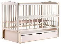 622151 Кровать Babyroom Веселка маятник, ящик, откидной бок DVMYO-3  бук слоновая кость, фото 1