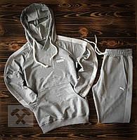 Серый спортивный костюм Puma (Пума) с лампасами