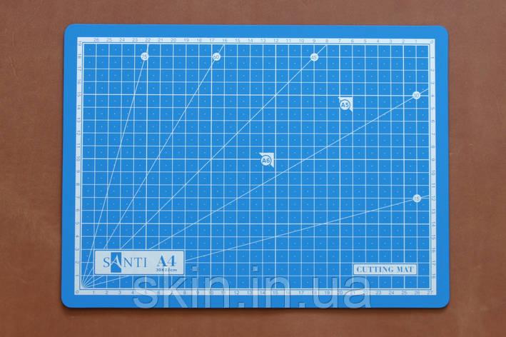 Коврик самовостанавливающийся Santi, формат А-4, размер - 30*22 см, толщина - 3 мм, артикул СК 6063, фото 2