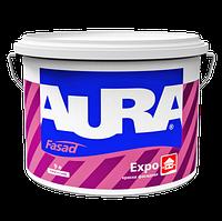 Универсальная Фасадная акриловая краска для внутренних и наружных работ AURA Fasad Expo TR 9л