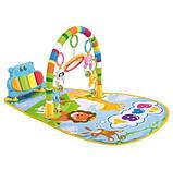 Детский развивающий коврик для младенца HE0612, HE0613 Веселый Бегемотик с пианино, розовый, синий, фото 3