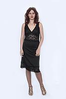 Платье  чёрное с гипюровыми вставками  / сукня  чорна