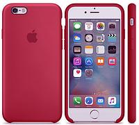 Силиконовый чехол Apple Silicone Case ROSE RED  iPhone 6/6s Soft touch Люкс качество чехлы на айфон