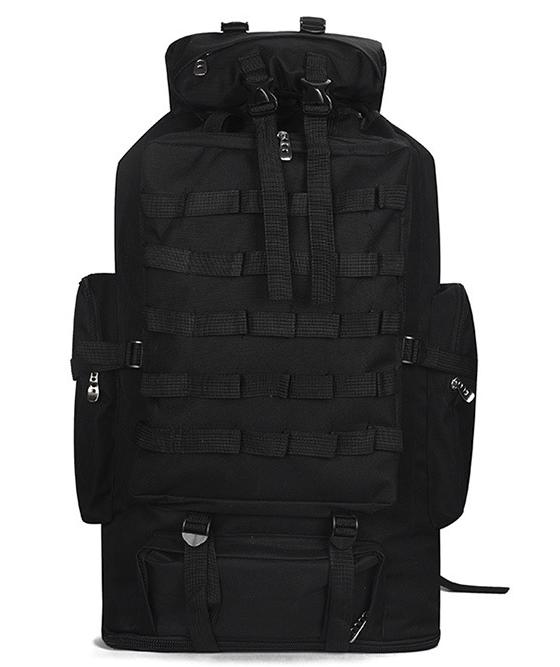 Рюкзак туристичний розсувний xs100l чорний, 90-100 л