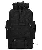 Рюкзак туристичний розсувний xs100l чорний, 90-100 л, фото 1