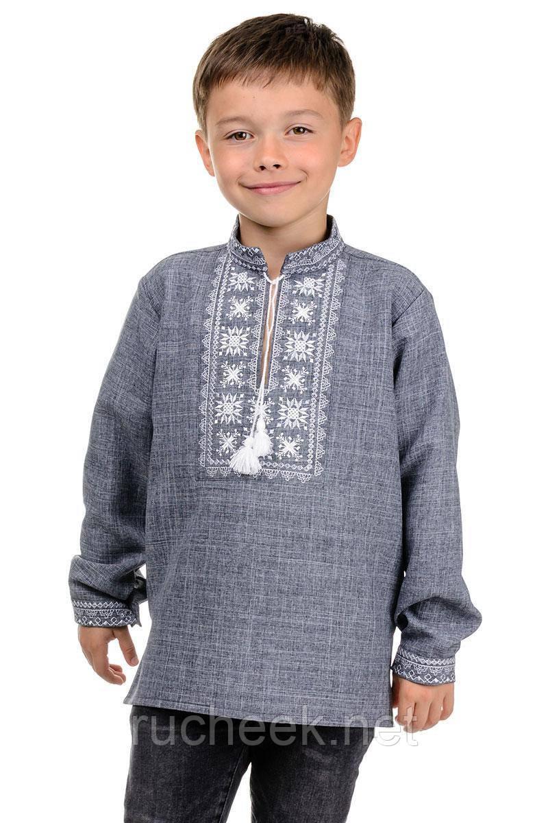 Вышиванка детская на мальчика в школу с длинным рукавом Орнамент р-ры 122 - 152