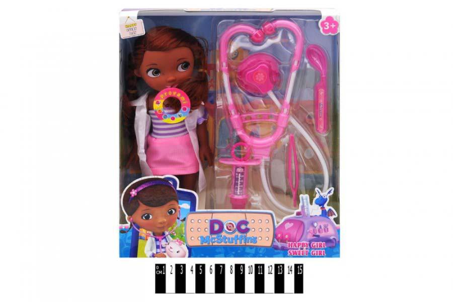 Кукла музыкальная  Доктор Плюшева  с медицинским набором