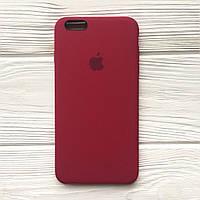 Силиконовый чехол Apple Silicone Case для iPhone 6/6s Soft touch Люкс качество чехлы на айфон ROSE RED
