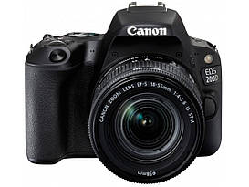 Зеркальный фотоаппарат Canon EOS 200D EF-S 18-55mm f/4-5.6 IS STM Black