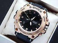 Спортивні наручний годинник Casio G-Shock GST-700 чорні з бронзовим, метал, фото 1