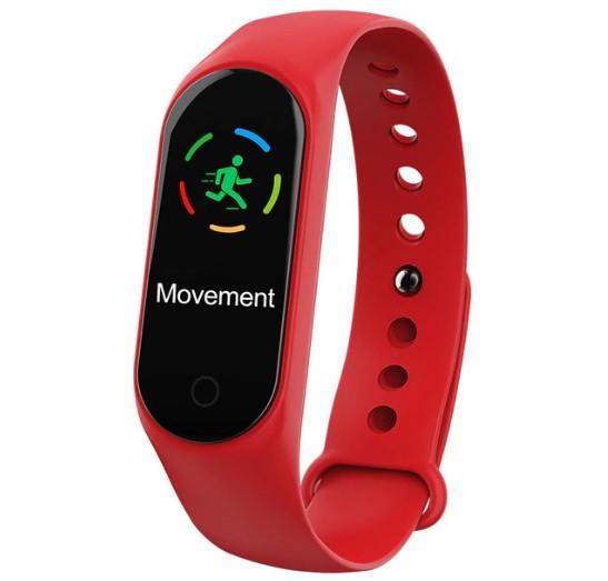 Фитнес браслет с измерением пульса и давления Smart band M3S Red