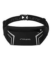 Беговая влагонепроницаемая сумка на пояс Fitletic Blitz Running Belt (черный)