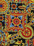 Печатный пряник 356-18, павлопосадский платок (шаль) из уплотненной шерсти с шелковой вязанной бахромой, фото 5