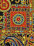 Печатный пряник 356-18, павлопосадский платок (шаль) из уплотненной шерсти с шелковой вязанной бахромой, фото 7
