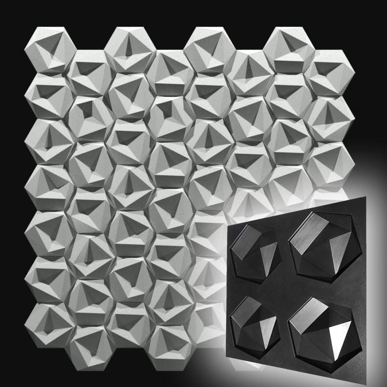 """Форма """"Стоун №1"""" для шестигранной декоративной гипсовой плитки, фото 1"""