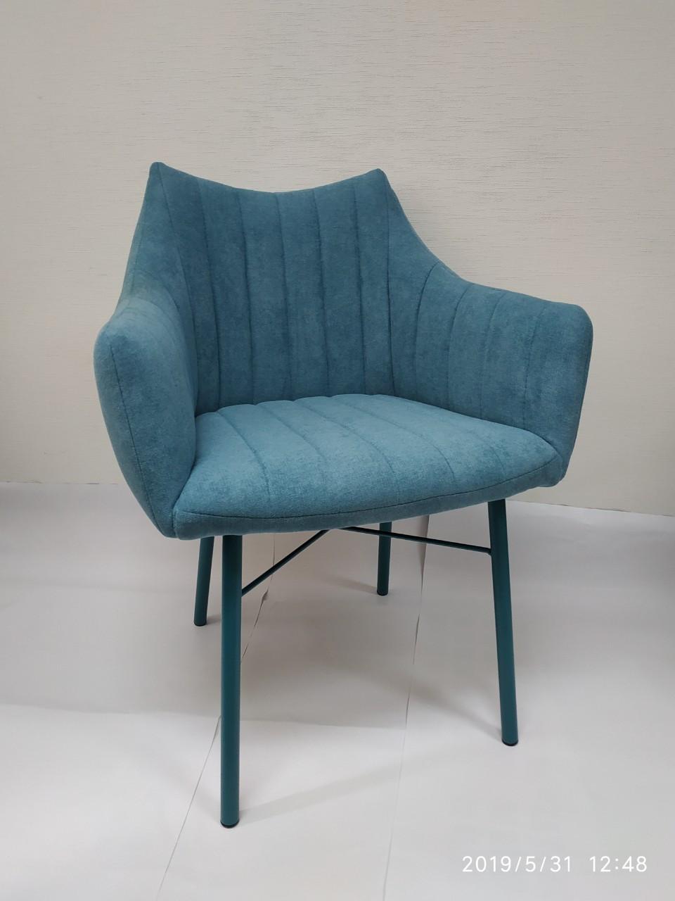 Кресло BONN (64*60*87 cm текстиль) бирюза