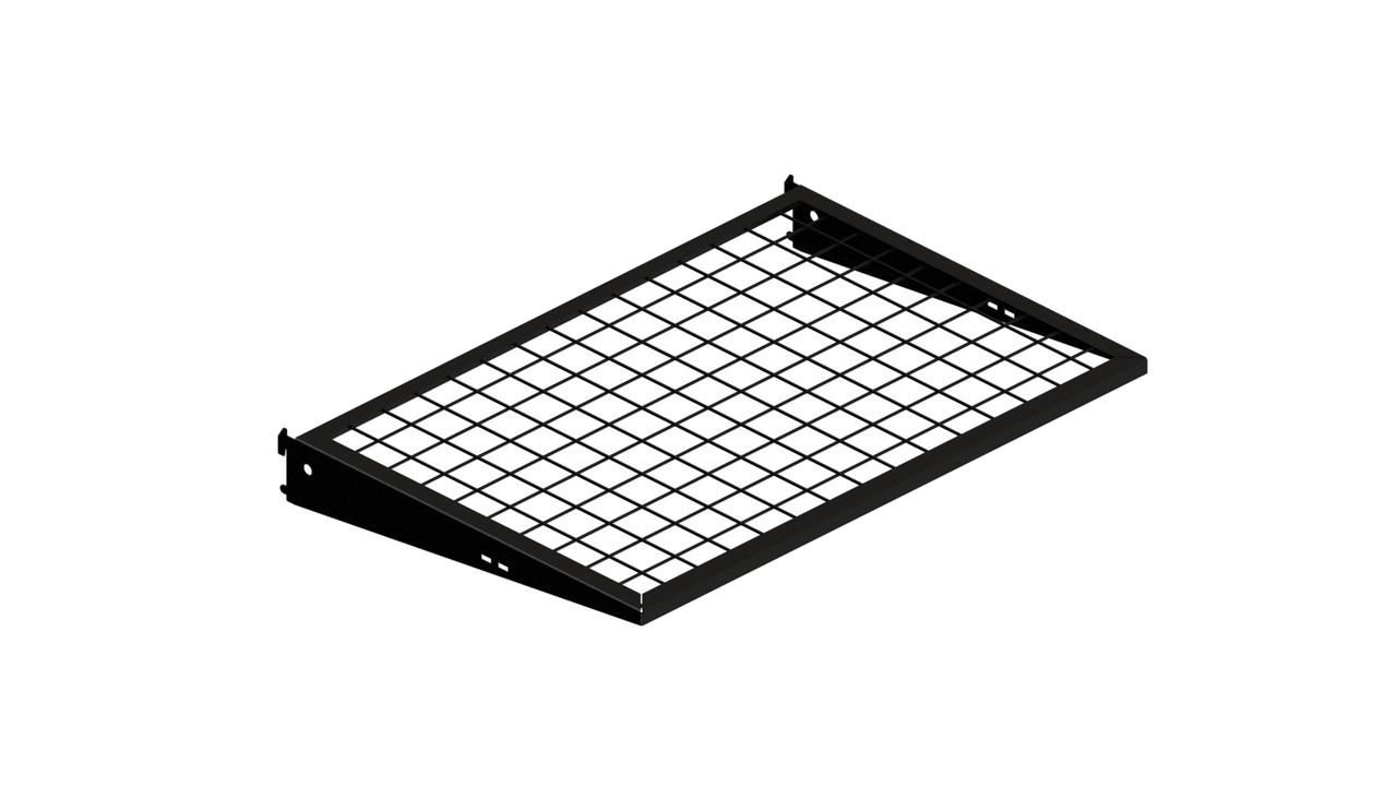 Полка с кронштейном НАRD Edition Кольчуга (консольная система хранения) 606*406 мм черный толщина металла 2 мм