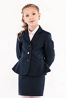 Жакет школьный синий с басками