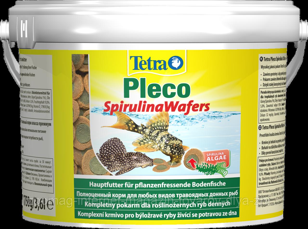 """Корм премиум-класса для питающихся на дне рыб """"Pleco Spirulina Wafers"""" (1,75кг.), Tetra™"""