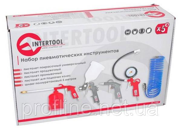 Набор покрасочный пневматический 5 ед. INTERTOOL PT-1502, фото 2