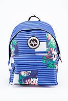Рюкзак в полоску с цветами HYPE (синий)