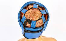 Шлем боксерский с полной защитой кожаный TWIN VL-6630-B ( р  L), фото 2