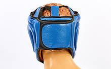 Шлем боксерский с полной защитой кожаный TWIN VL-6630-B ( р  L), фото 3