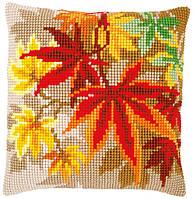 """PN-0157754 Набор для вышивания крестом (подушка) Vervaco Autumn leaves """"Осенние листья"""""""