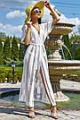 Женская пляжная туника, белая, роскошная, элегантная, длинная, в пол, фото 2