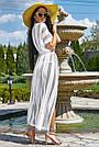 Женская пляжная туника, белая, роскошная, элегантная, длинная, в пол, фото 4