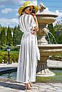Женская пляжная туника, белая, роскошная, элегантная, длинная, в пол, фото 5