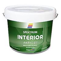 Краска моющаяся для медицинских учреждений Spektrum Interior 07 (В), сатин,9 л