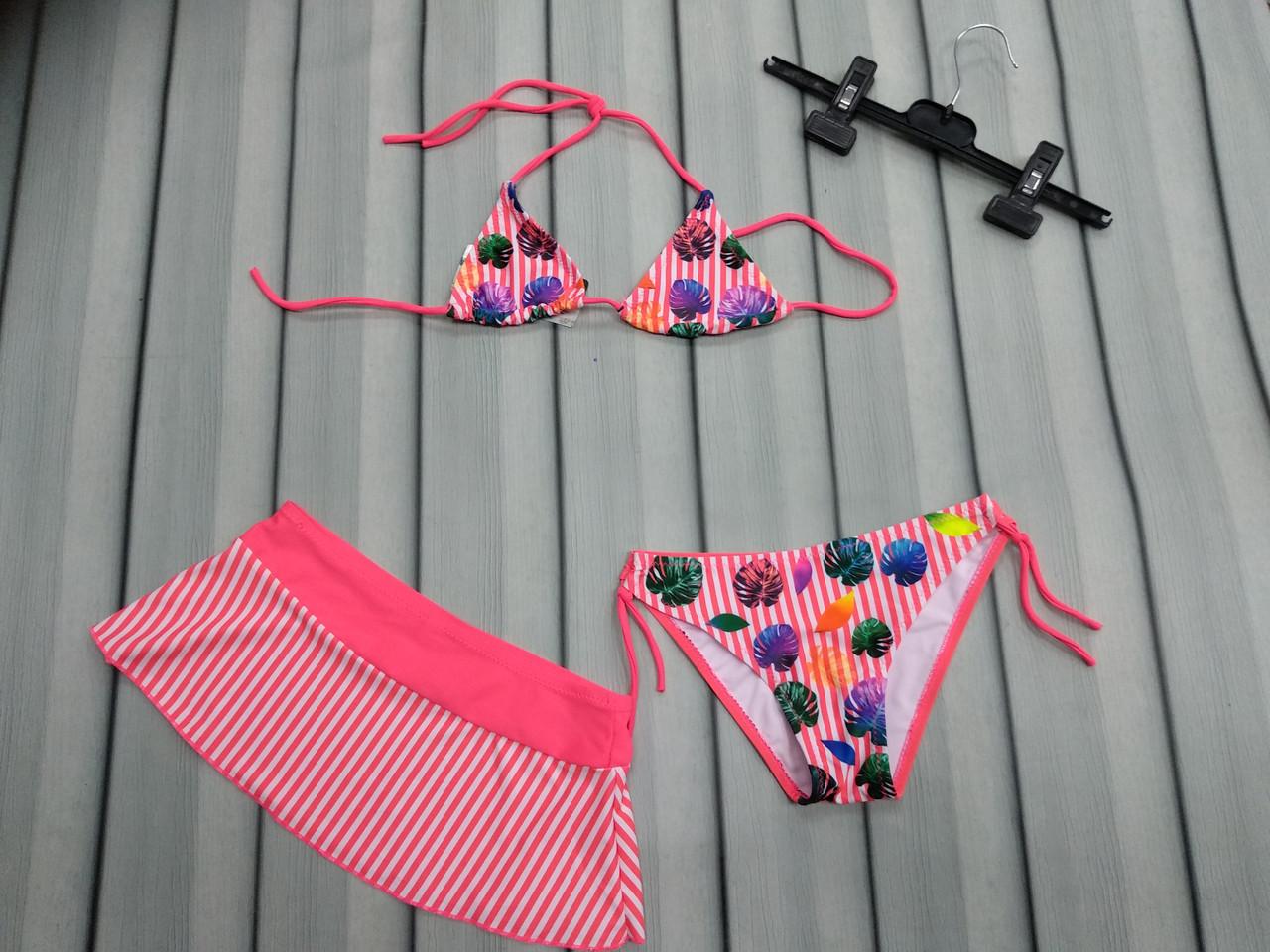 Купальники с юбочкой для девочек (4-16 лет)